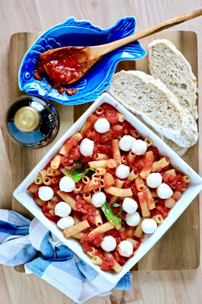 photo of Italian pasta dish
