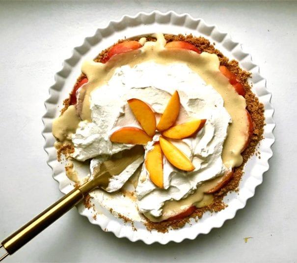 1 Peachy Custard Pie 605x535, CucinaByElena
