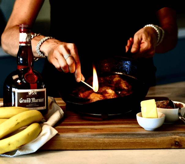 Grand Marnier Banana Flambe 605x535, CucinaByElena
