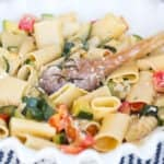 pasta, authentic italian, creme fraiche, pasta and vegetables, 30 minute meals