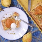 pear tart, frangipane pear tart, almond cream and pear, butter crust, pears, frangipane,