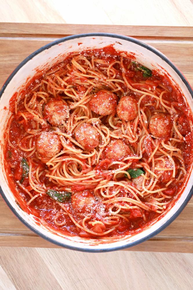 meatballs, red sauce. Italian, authentic Italian cooking, polpette con sugo, Italian meatballs