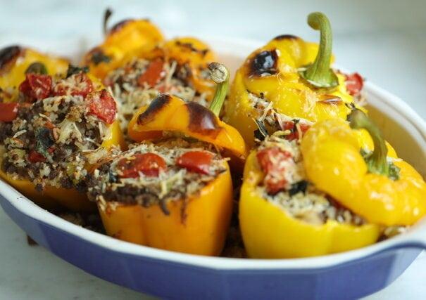 Stuffed Bell Peppers Recipe 1 605x427, CucinaByElena