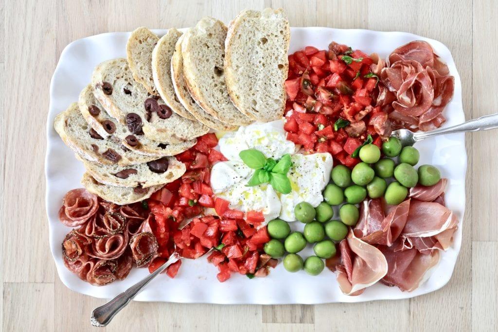 bread recipe, no knead bread, Italian antipasto, charcuterie, best bread, best homemade bread recipe