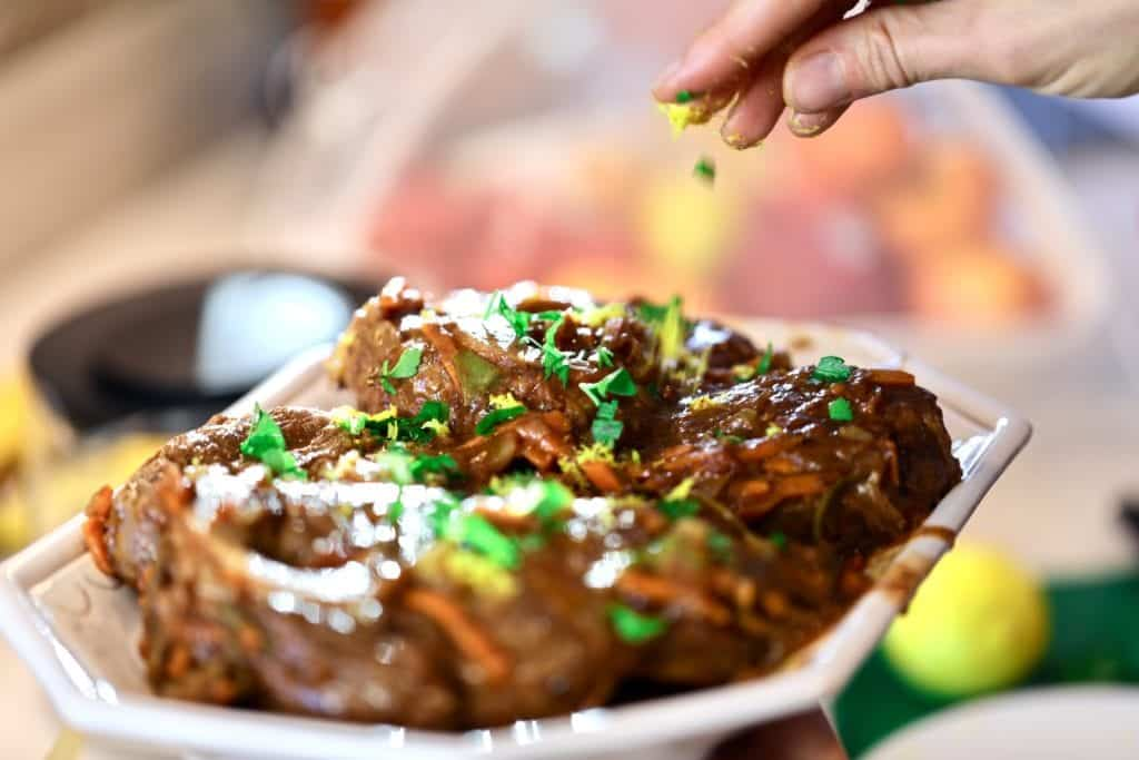 Osso Buco, Italian meat, polenta and meat, tender meat, fall off the bone,