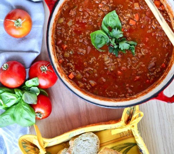 Italian Chili in a pot