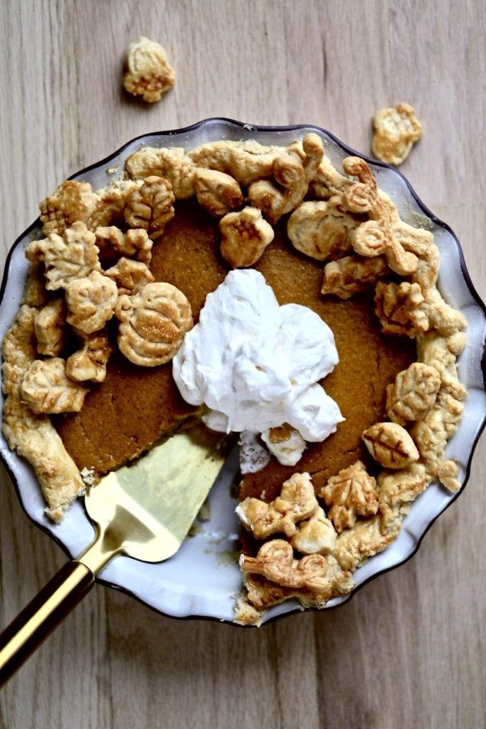 Pumpkin pie-whipped cream