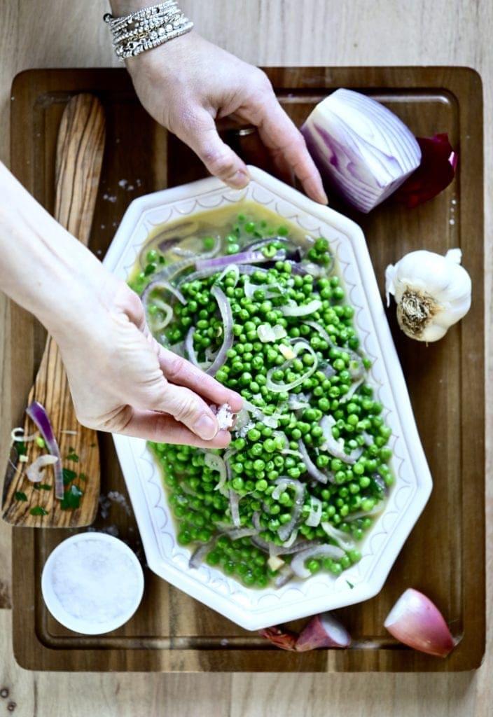 peas-onions -side dish