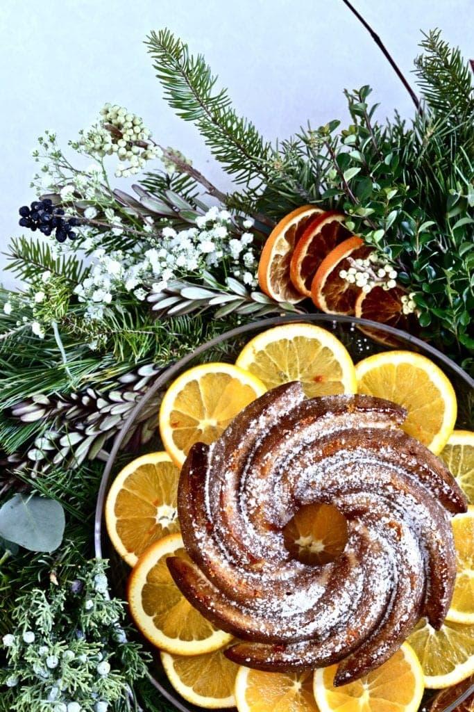 cake and wreath