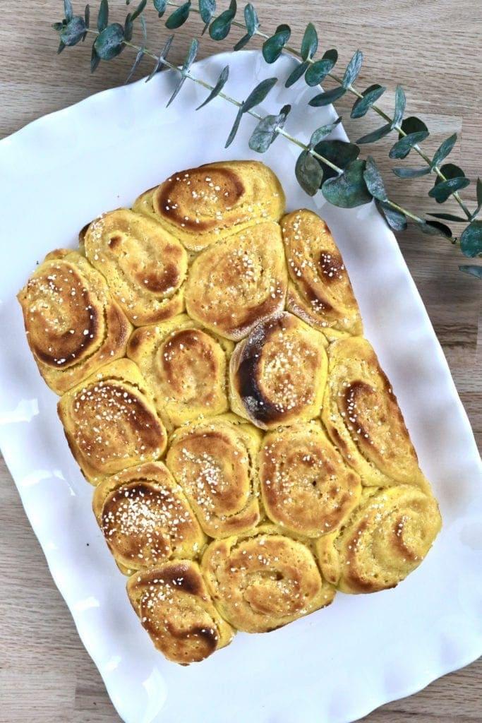 sweet rolls on plate