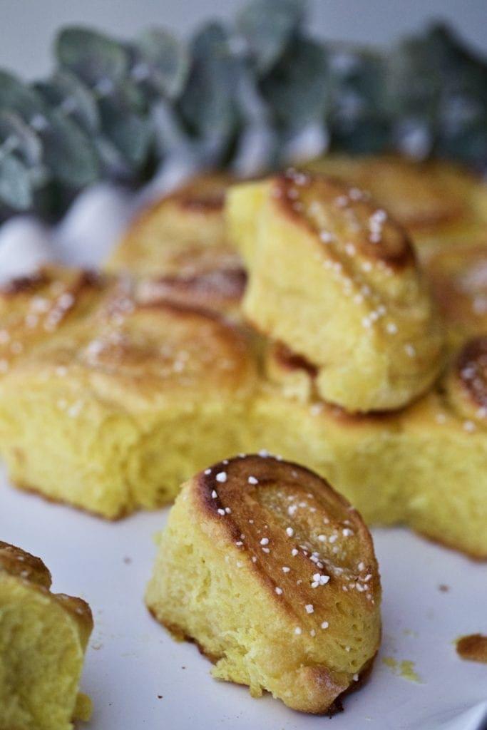 sweet rolls on tray