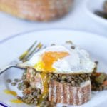 lentils on toast with egg