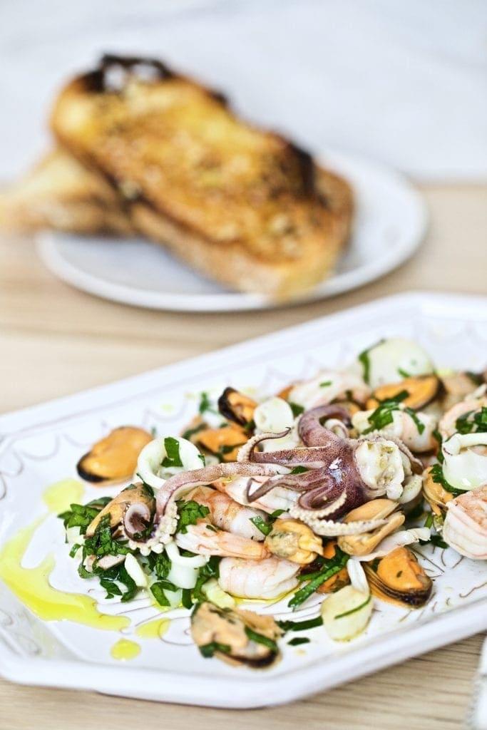 Italian insalata di mare (seafood salad)