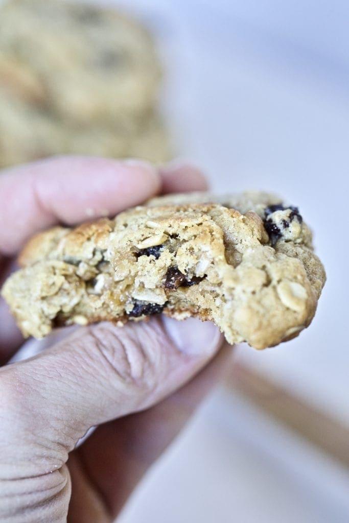 oatmeal- raisin cookies with bite