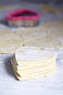 pie dough- heart shaped