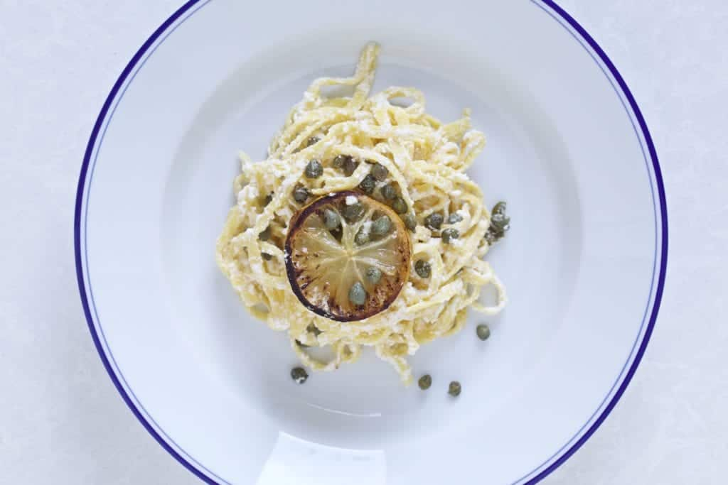 Lemon- ricotta- pasta- plate