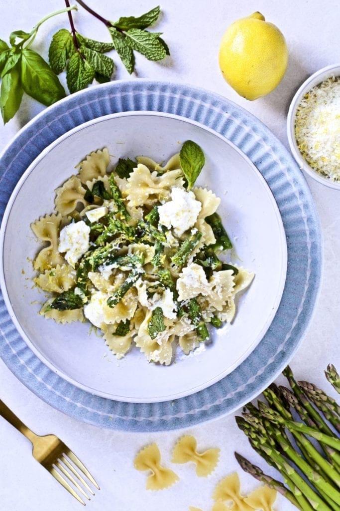 Asparagus- ricotta- pasta- lemon