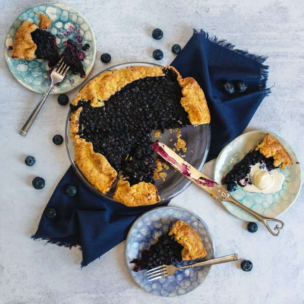 delicious and flaky pie crust for a blueberry galette recipe