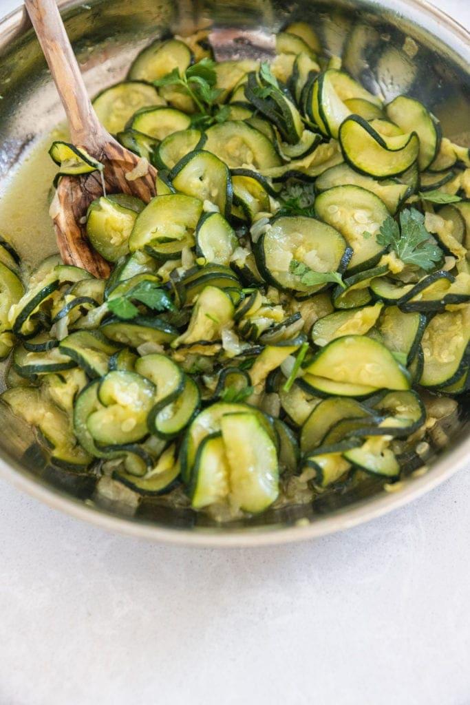 final dish prepared in a pan