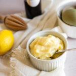 pastry cream ingredients eggs, lemon, vanilla