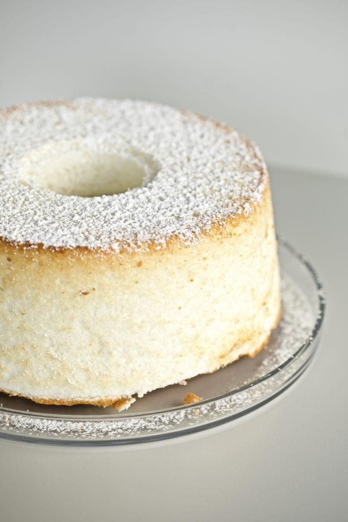 angel food cake on a plate