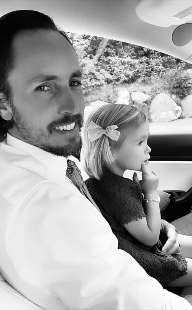 Dad and daughter driving. Go on a drive and enjoy the journey
