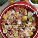 zucchini and tomato bruschetta bake