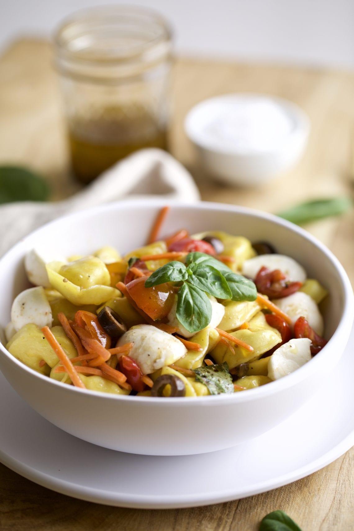 Easy Italian Tortellini Pasta Salad Recipe in a bowl