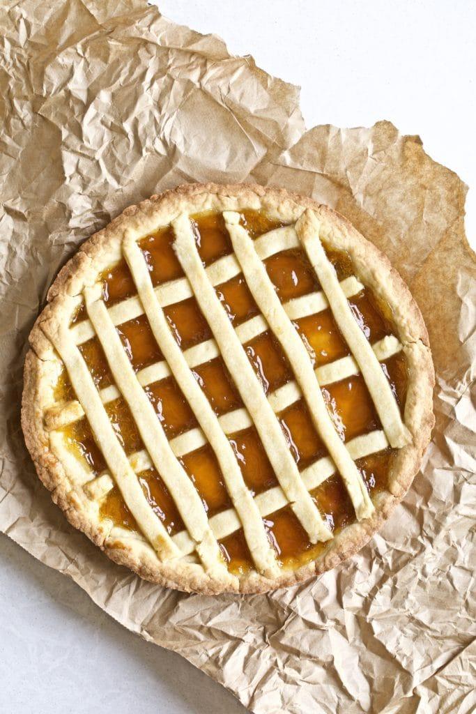 Crostata Jam filled tart with lattice top