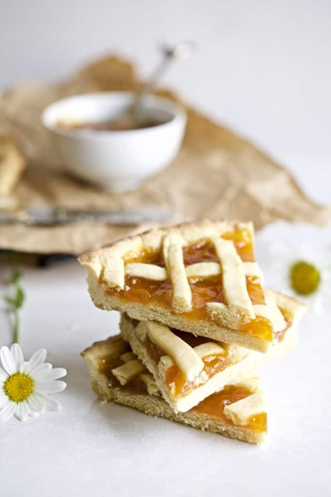 stacked slices of the crostata