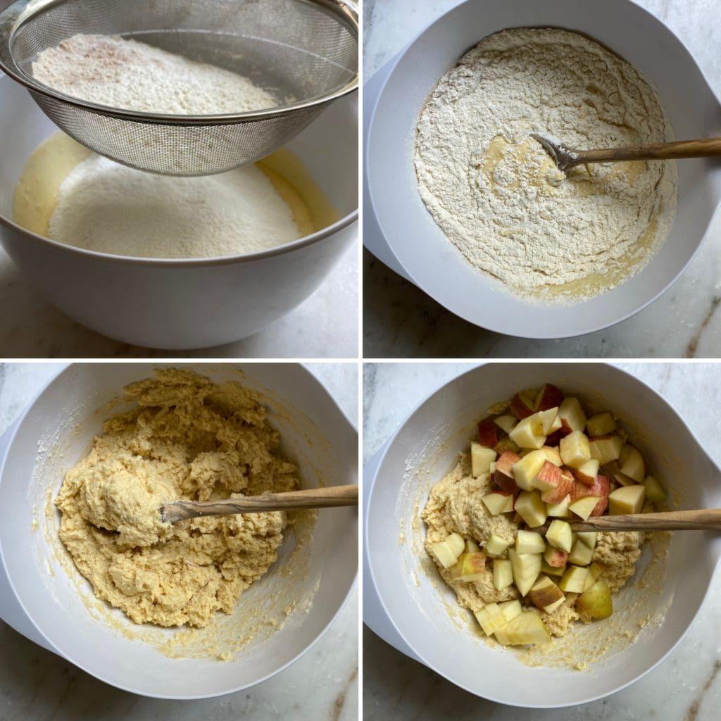 Italian Apple Cake process