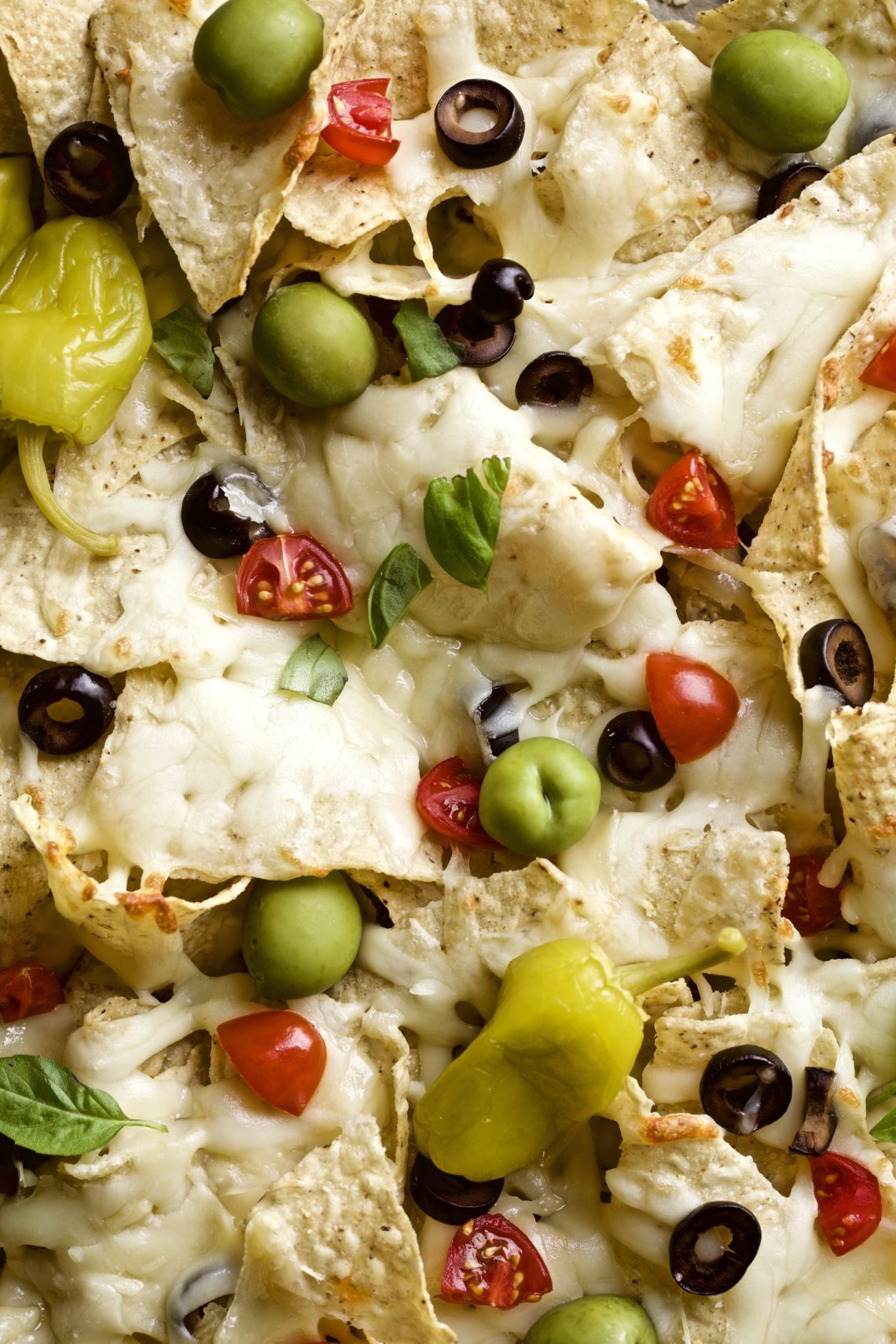 Italian nachos with dipping sauce