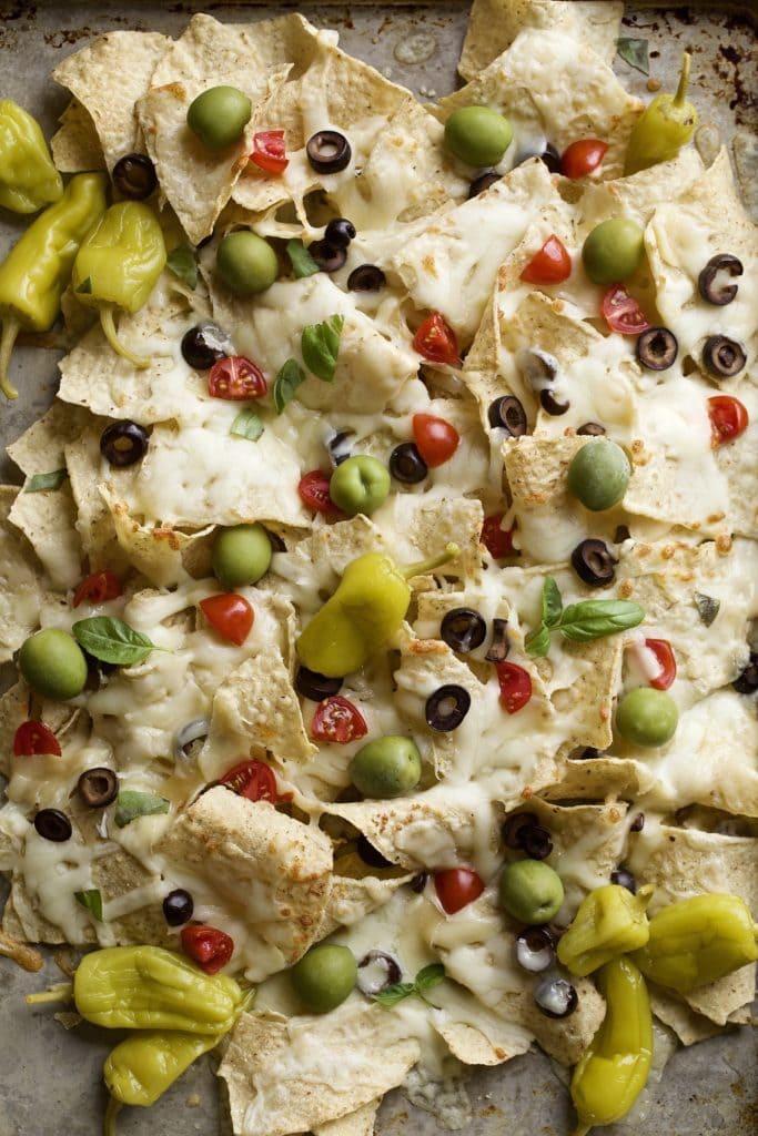 Italian nachos sheet pan